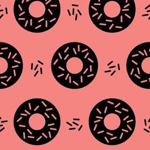 Memphis Geo Donut Sprinkles Pink