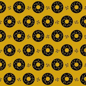 Memphis geo donut Sprinkles mustard yellow