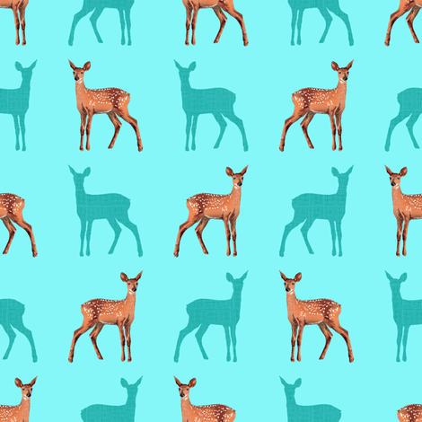 Forest Trip (Fawns) fabric by vannina on Spoonflower - custom fabric