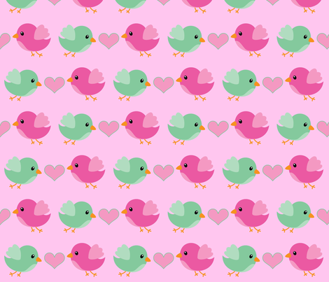 Lovebirds fabric by sunshineandspoons on Spoonflower - custom fabric