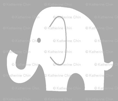 Jumbo Elephant on Grey