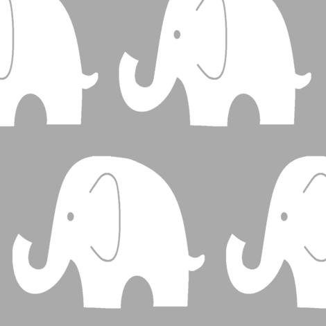 Jumbo Elephant on Grey fabric by sewluvin on Spoonflower - custom fabric