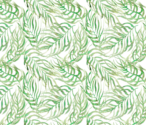 palm leaves fabric by rebecca_reck_art on Spoonflower - custom fabric