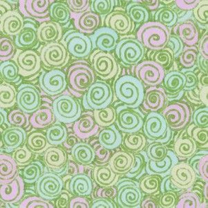 Pastel Swirl Lavendar Lime and Aqua