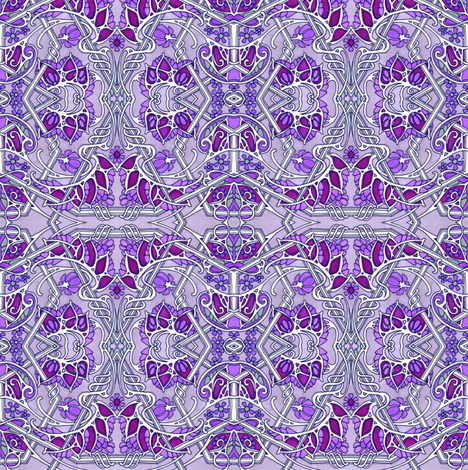 Purple Gothic Hex fabric by edsel2084 on Spoonflower - custom fabric