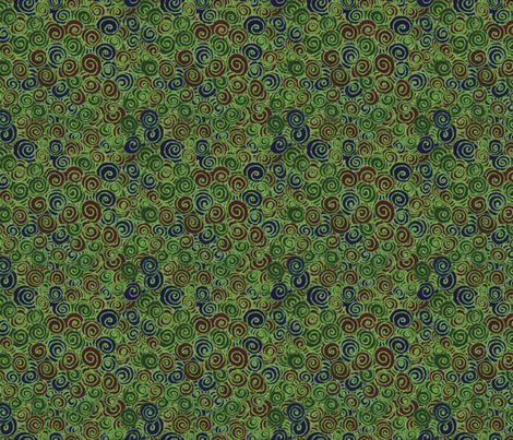 Green Brown Navy Swirl fabric by bloomingwyldeiris on Spoonflower - custom fabric