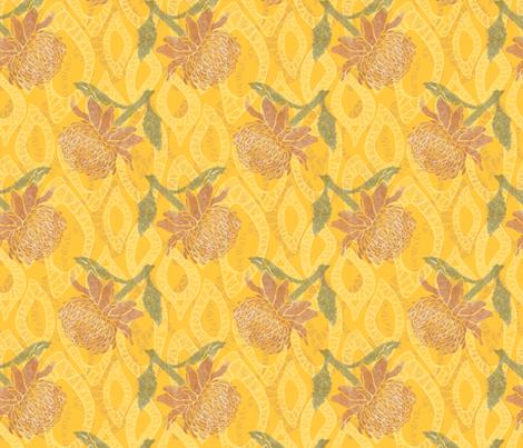 Waratah fabric by neana_ on Spoonflower - custom fabric