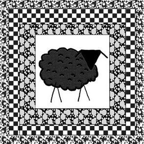 "Black Sheep Quilt Block (8""x 8"")"