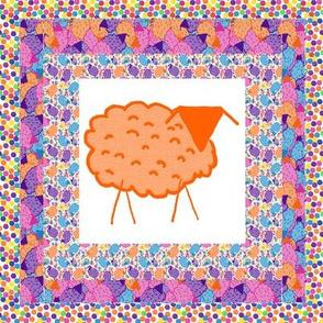 Baaaa! in Color Quilt Block 3