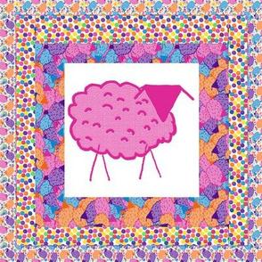 Baaaa! in Color Quilt Block 2
