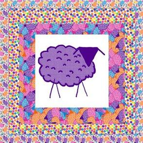 Baaaa! in Color Quilt Block 1