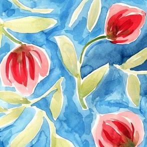 geometric pattern on watercolor background