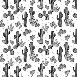 cactus // cacti small tiny version kids grey cactus summer exotic tropical print