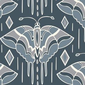 La maison des papillons - Butterflies Custom Blue & Grey 3
