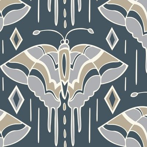 La maison des papillons - Butterflies Custom Blue Grey & Tan 1