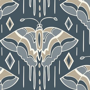 La maison des papillons - Butterflies Custom Blue Grey & Tan 2