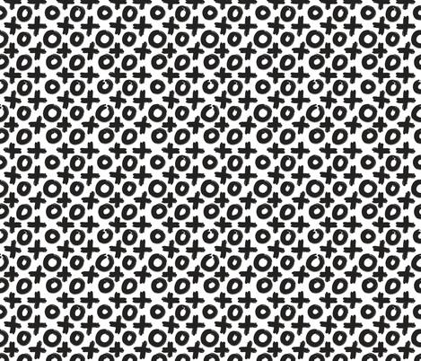 Black White X O fabric by northeighty on Spoonflower - custom fabric