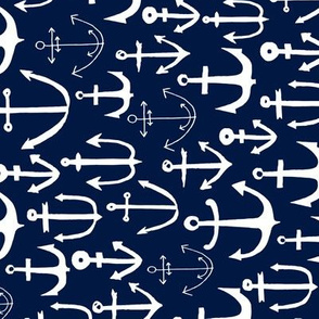 anchors // blue navy railroad nautical summer