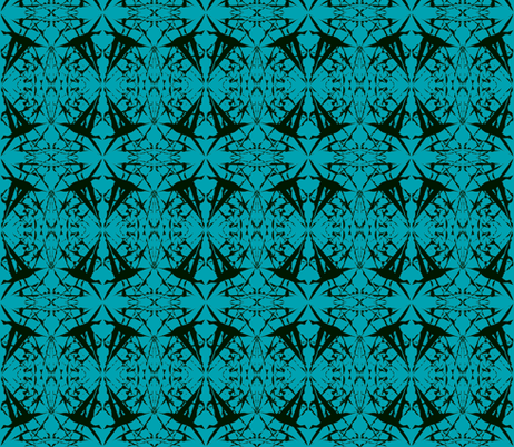 Spinning Tales of Flight on Teal fabric by rhondadesigns on Spoonflower - custom fabric