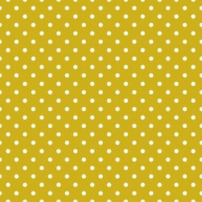 White Dots on Mustard (Autumn)