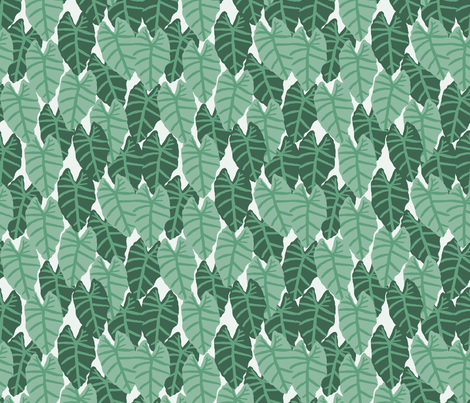 palms tropical alocasia tropical palm print summer palm springs trendy cool vibes wallpaper fabric by charlottewinter on Spoonflower - custom fabric