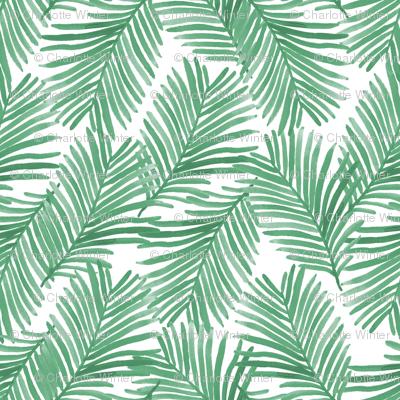 palm print green tropical palms summer trendy palm springs