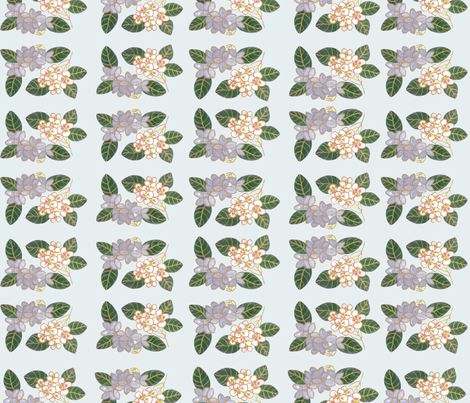 Japanese Flower Pattern  fabric by wendyconnolly on Spoonflower - custom fabric