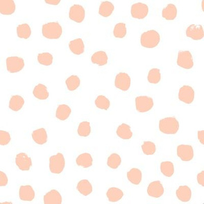 dots painted dots pastel peach light peach nursery baby blush