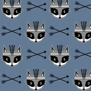 southwest raccoon boys nursery baby blue arrows feathers kids tribal aztec raccoons