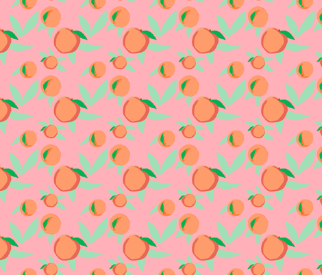SOUTHERN PEACH fabric by rose_and_stone on Spoonflower - custom fabric