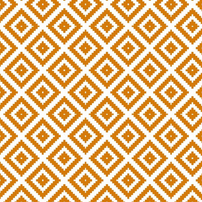 Orange Aztec Large