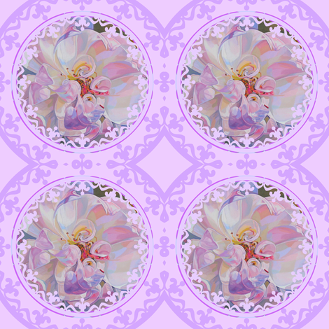 Exquisite Floral Trellis fabric by ann_aveyard on Spoonflower - custom fabric