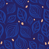 Skeleton Leaves: Navy