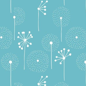 Scandinavian dandelion flower blossom garden summer fall blue