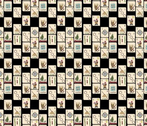Majong Tile Cloth fabric by elaine_marie on Spoonflower - custom fabric