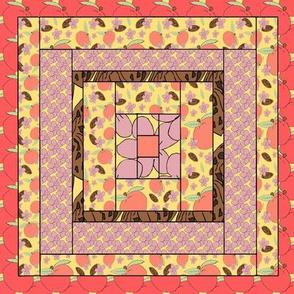 Peach Quilt Block 2