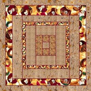 Handmade Paper & Acrylic Dots  Quilt Block 3