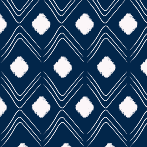 Diamond- Indigo fabric by fat_bird_designs on Spoonflower - custom fabric