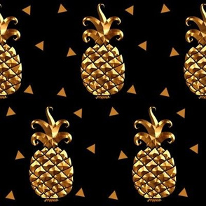 Gold Metallic Geometric Pineapple