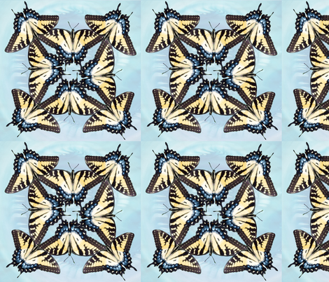 eastern-tiger-swallowtail-blue-octet-vsmall-9x9-01 fabric by demigail on Spoonflower - custom fabric