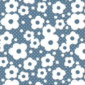 Dancing Daisy Dots Blue