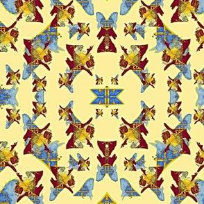 Odin's Dream - blue/rust/yellow - RF