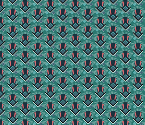 Granada Midnight fabric by madmelody on Spoonflower - custom fabric