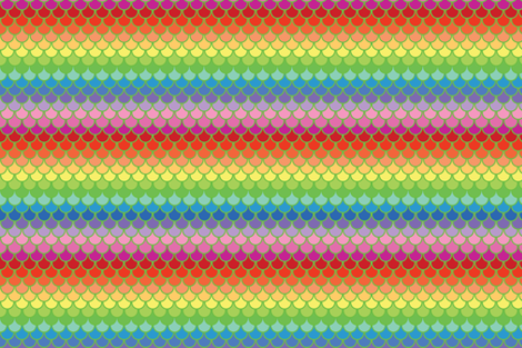 Mermaid Scales Rainbow fabric by prototoyandgiftstudio on Spoonflower - custom fabric