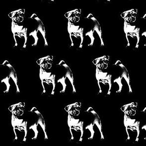 Pug on Black // Small