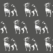 "Pug on Grey - Small (2"")"