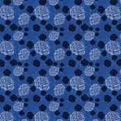 Rice + Roses - blue/denim/black