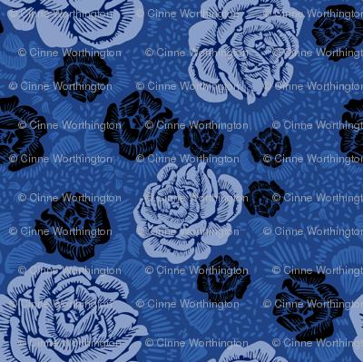 Rose Remix - blue/denim/black