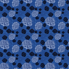 Rose Remix - blue/denim/black