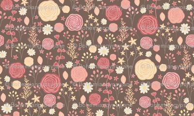 Wildflowers-Brown